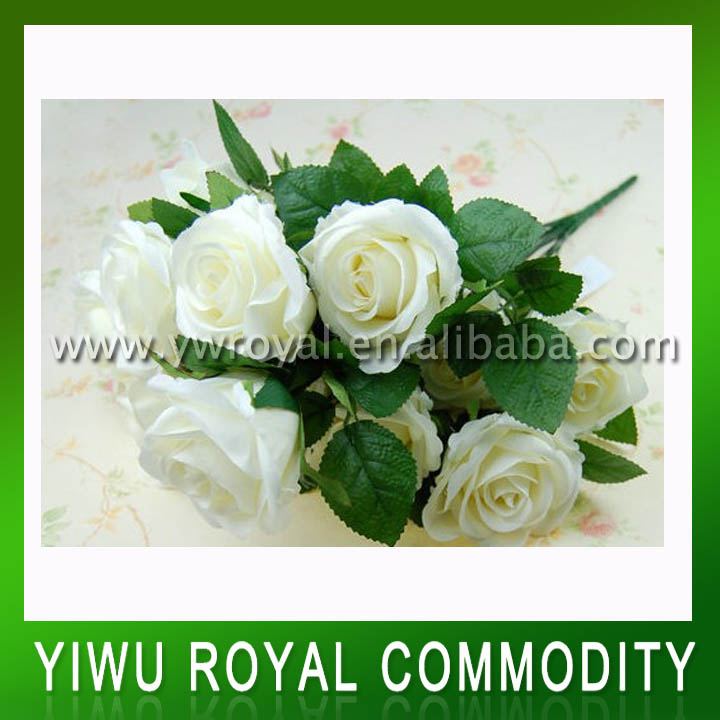 Real Touch Wedding Artificial White Rose Flower