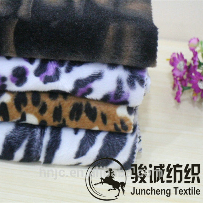 Soft Comfortable Animal Skin Printing Plush Fabric For Warm