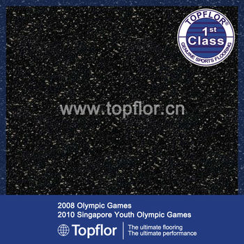 Black Sparkle Glitter Effect Vinyl Safety Flooring For Nurseries