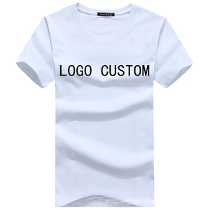 Men's short-sleeved cotton round collar customized T-shirt team work clothes DIY shirt