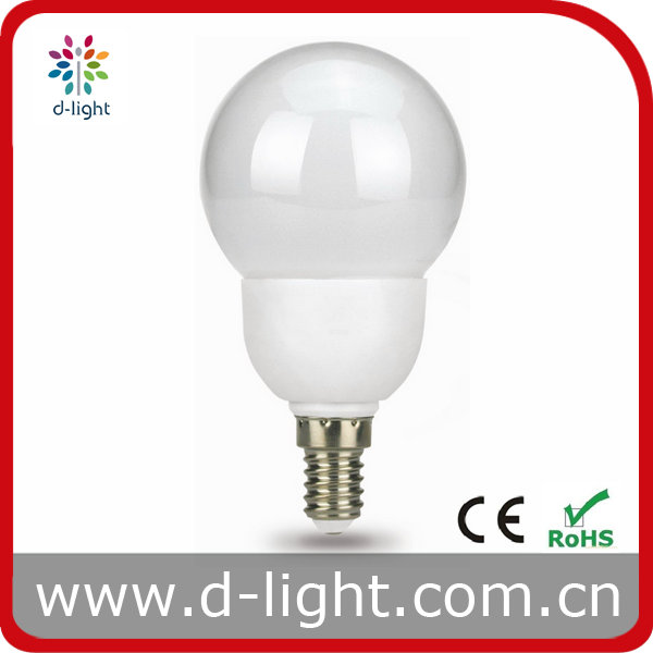 G60 Energy Saving Light bulbs 7w 9w 11w 15w cfl light bulbs with CE ROHS Mini Globe CFL E27 E14 220-240V