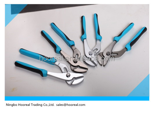Adjustable Toungue & Groove slip Joint water pump Pliers Carbon Steel with TPR Handle