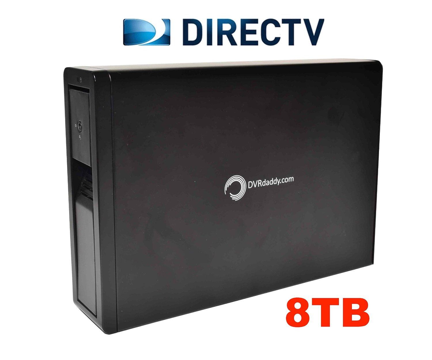 8TB DVRdaddy External DVR Hard Drive Expander For DirecTV HR34, HR44, and HR54 Genie DVR. +6,000 Hours Recording Capacity!