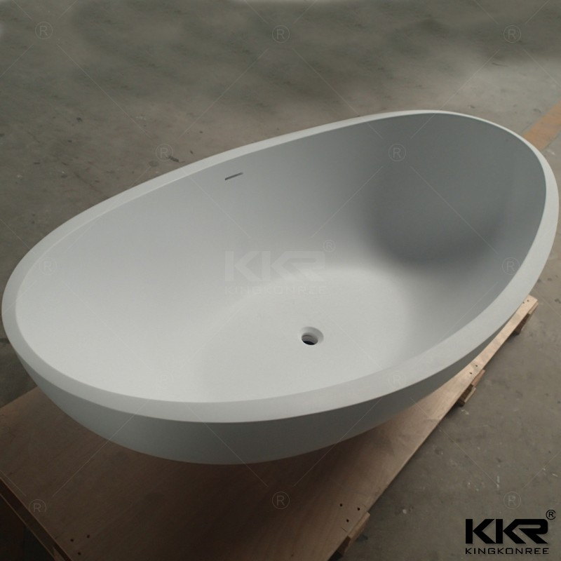 1700 LONGBOAT SQUARE BATHROOM FREESTANDING ACRYLIC BATH TUB - FREE STANDING