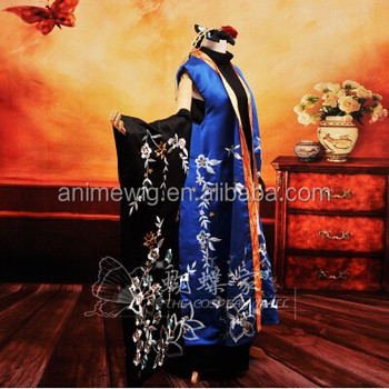 High Quality Vocaloid KAITO Cosplay Costume Sexy Dress Anime cosplay Costumes Lolita Dress uniforms Halloween Costumes & High Quality Vocaloid Kaito Cosplay Costume Sexy Dress Anime Cosplay ...