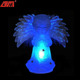 Wholesale color changing glass fiber optic angel figurines with led for christmas decoration