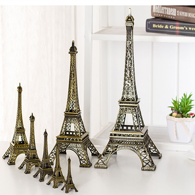 Living room creative Ornament Paris eiffel tower model of <strong>metal</strong>