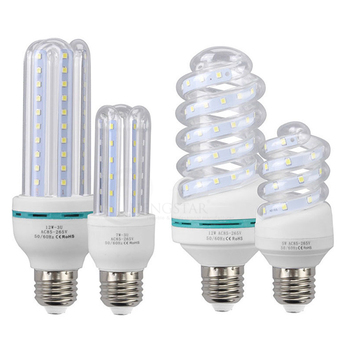 3U 4U CFL Ultra Bright 3W 5W 7W 9W 12W 16W 24W LED lamp e27 110V E14 220V Energy Saving LED Corn Bulb