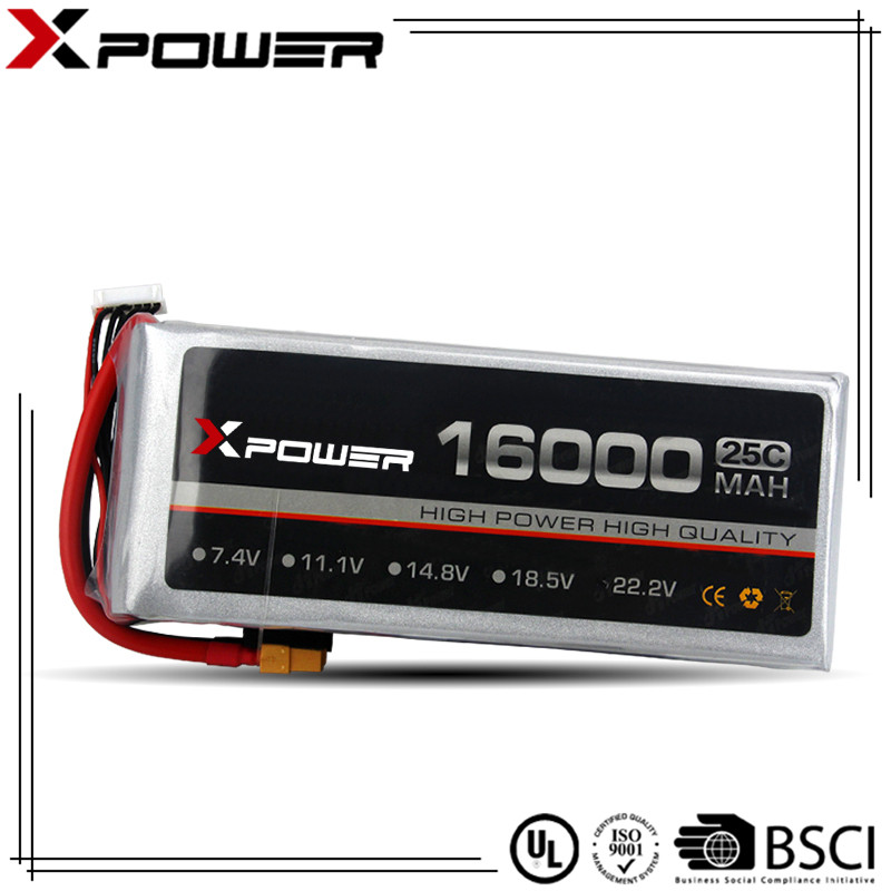 14.8V XT90 rechargeable lithium polymer batteries 4S 10C 20C 16000mAh
