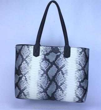 Trend 2017 Designer Handbag Snake Pattern With Black Inner Bag
