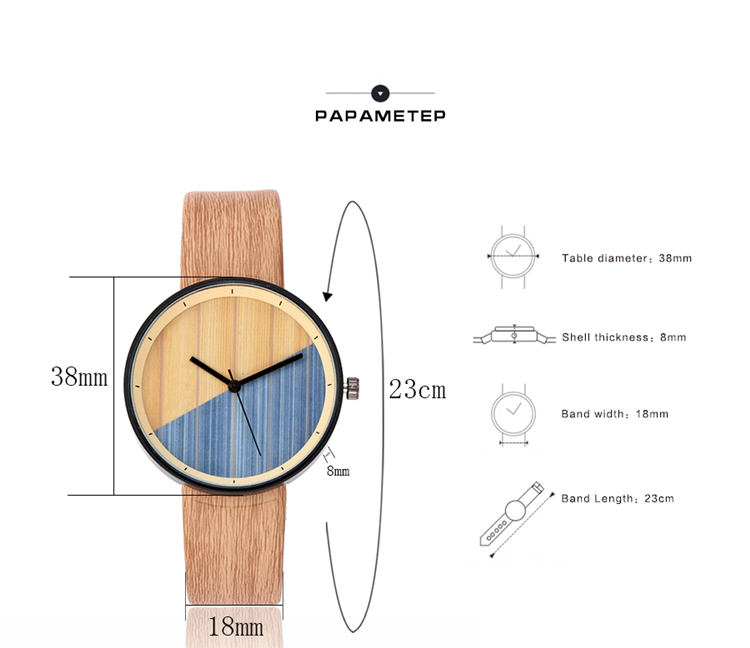 With gift box Wood Watches and Clock Factory OEM Custom Logo Wristwatch