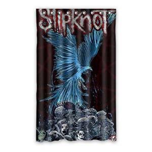 """Custom Slipknot Blackout Curtain Polyester For Bedroom 52""""x84"""" 1 Panel"""