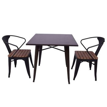 cheap restaurant kitchen metal dining table and chair set for dining room