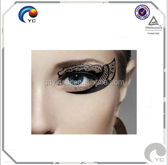 Temporary Tattoo Transfer Makeup Eyeshadow Black Sea Medusa Lace