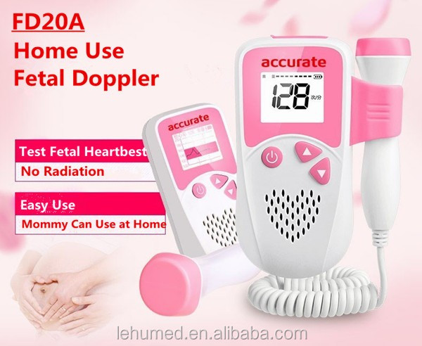 2017 Newest Hot Sale Fetal Monitor/Heartbeat Baby Monitor/Pocket Fetal Doppler with CE Approval