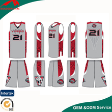 GuangZhou custom basketball uniform cheap wholesale sublimation print womens best basketball uniform design color red
