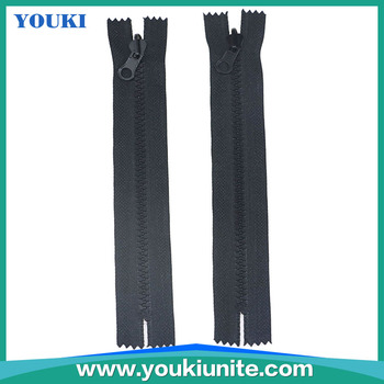 5# close end plastic zippers for wholesale/ Non lock slider zipper, View  zippers, Youki Product Details from Ningbo Youki Unite Imp & Exp Co , Ltd   on
