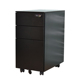 mini steel office furniture a4 size file 3 drawer metal mobile pedestal cabinet