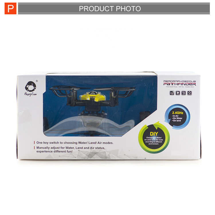 Crazy selling land and water rc helicopter 4-axis aircraft model for sale
