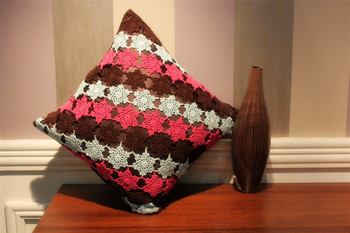 Hand Crochet Cushion Cover For Living Room Cushion Cover
