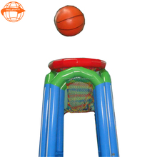 Giant adult inflatable pool toys , indoor inflatable basketball hoops for sports game