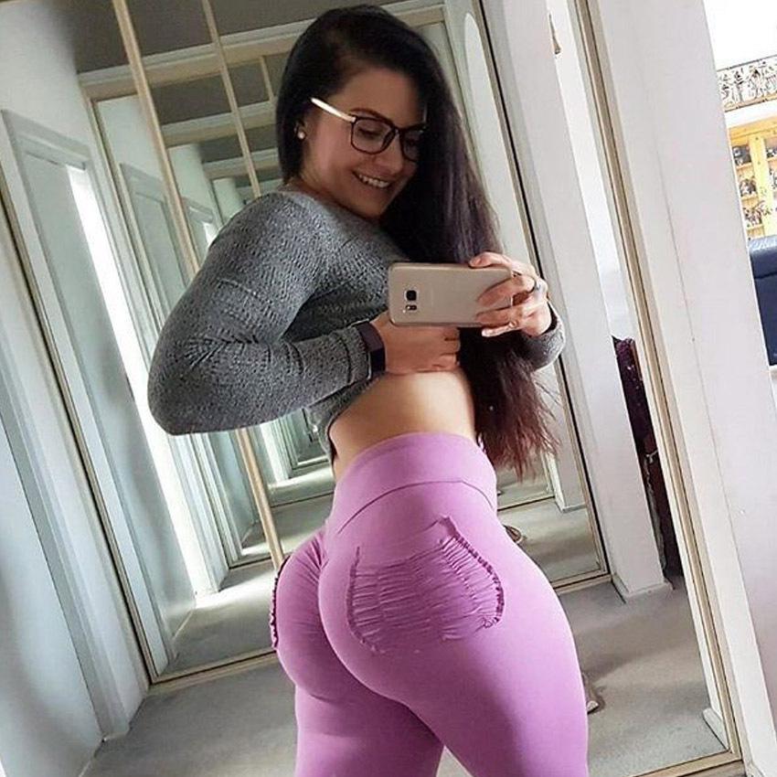 Alibaba.com / New Style Yoga Leggings Fitness Running Gym High Waist Stretch women scrunch butt leggings