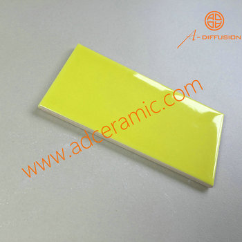 Yellow subway tile Aquamarine Lemon Yellow Glossy Subway Tiles 3x6 Inch 75x150mm Quadcaptureco Lemon Yellow Glossy Subway Tiles 3x6 Inch 75x150mm Buy Yellow