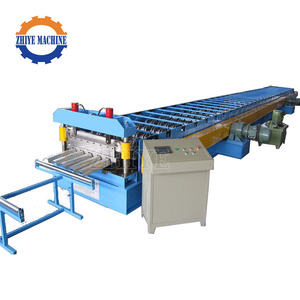 High Rib Steel Metal Flooring Deck Sheet Roll Forming Machine