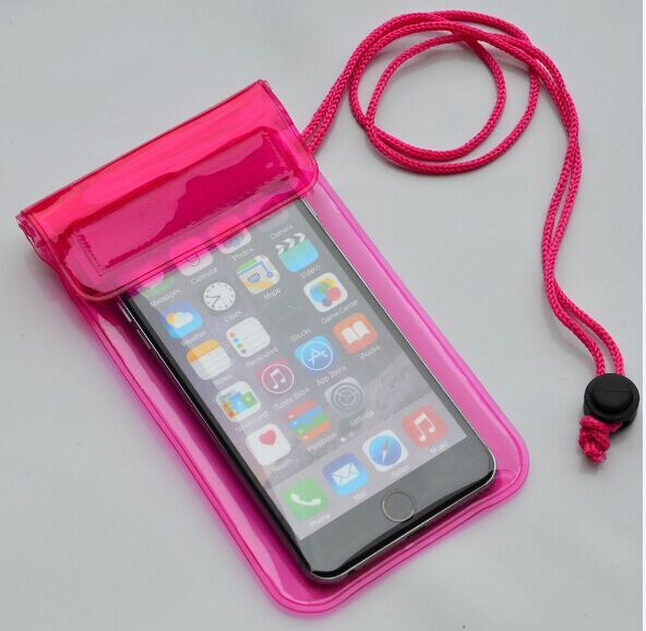 Reusable different color waterproof bag for mobile