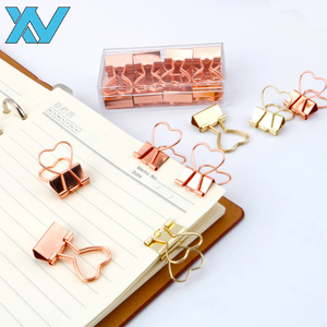 Sweet Heart Design Metal Clips 19mm golden binding clip fold holder clips