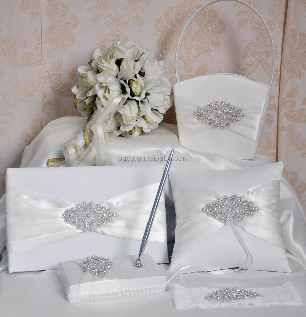 Latest design wedding necessary items diamond accessories guest book ...
