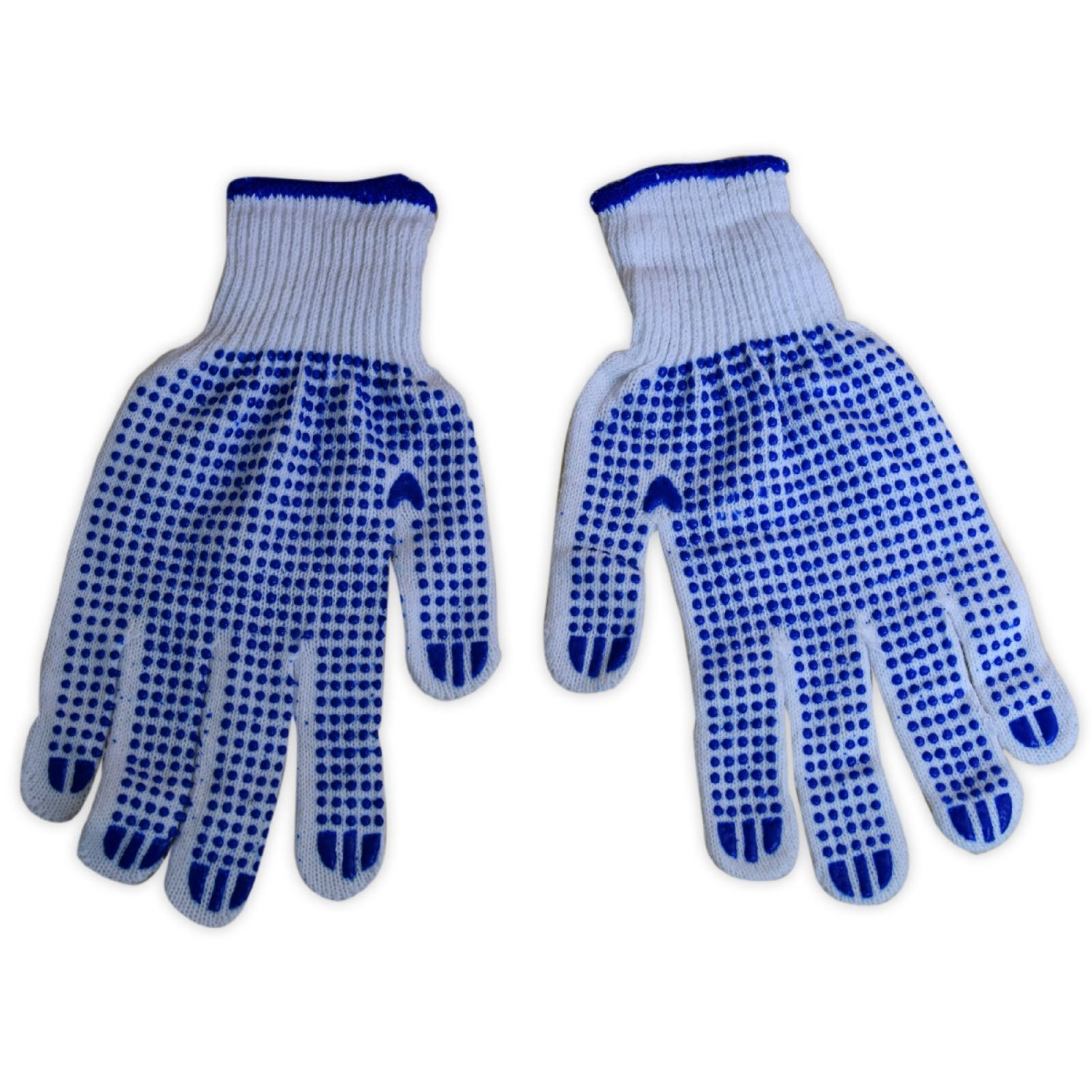 Mens Work Gloves with Palm Grip 2 Pairs