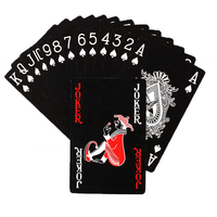 High Quality Customized Personalized Paper or Plastic Black Playing Cards