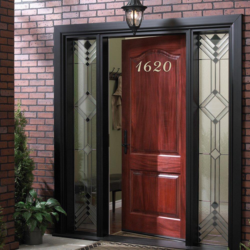 House Address Number Front Door Stickers Personalized Vinyl Front Door Decals