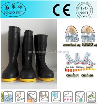 Punta Trabajo De De Negro Seguridad De Con Pvc Botas Acero Zapatos W0BAEax 43a1a8c566