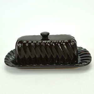 Wholesale elegant style ceramic plate butter dish With string shape