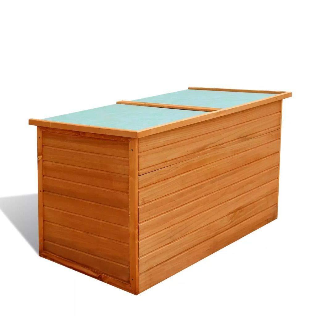 MandycngGarden Storage Box Outdoor Backyard Cushions Storage Box Patio Chest Waterproof