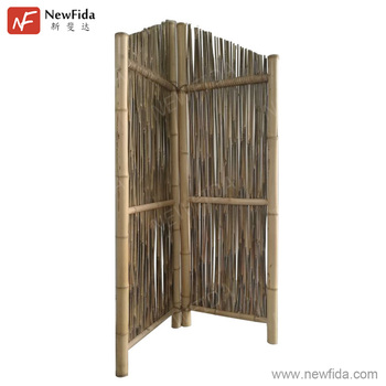 Environmentally Friendly Fumigated 2 Panel Folding Screen Room Divider Product On