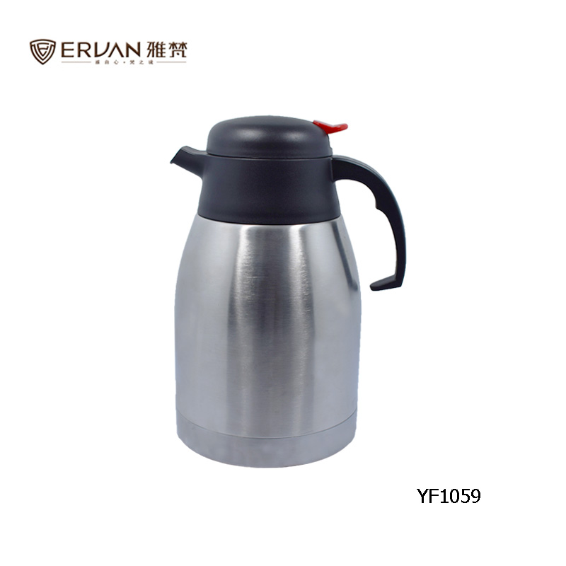 Stainless steel thermal tea coffee pot, vacuum insulation pot 1.5L