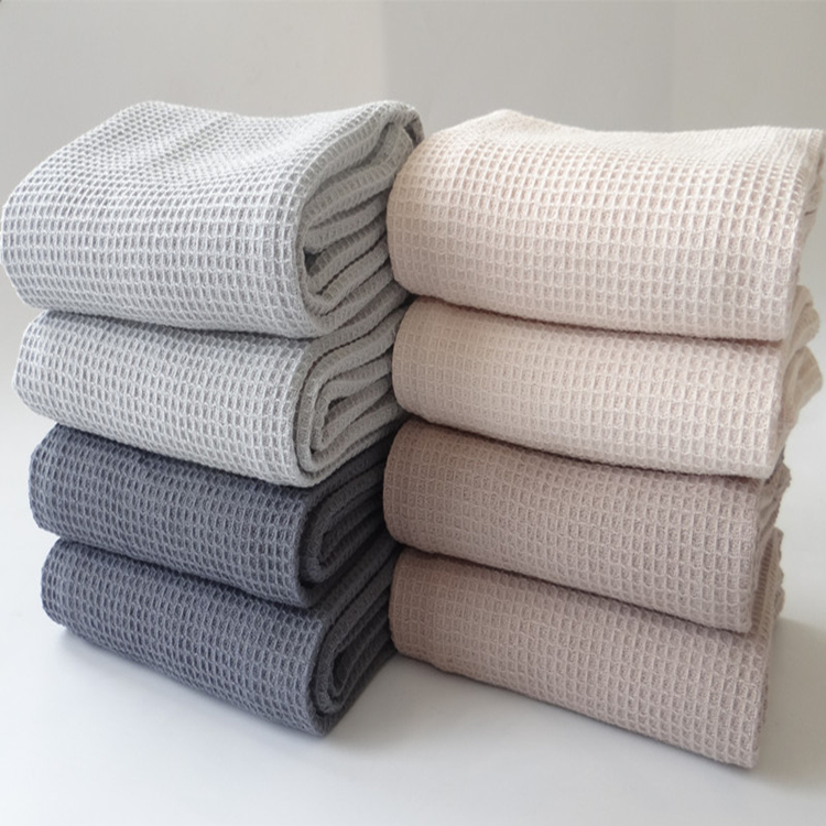 Factory cotton waffle weave kitchen tea towels in stock