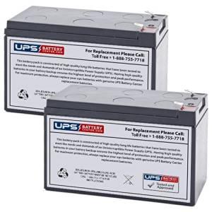 Set of 2 - APC Back UPS RS 1000 RS1000 Battery - Replacement UB1270 Universal Sealed Lead Acid Battery (12V, 7Ah, 7000mAh, F2 Terminal, AGM, SLA)