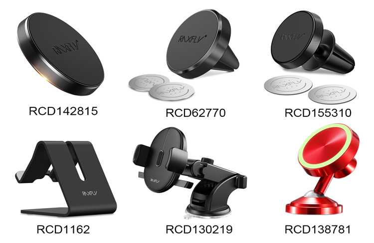 Free Shipping RAXFLY 2019 New L-Type Universal Car Air Vent Clip Mobile Phone Magnetic Holder
