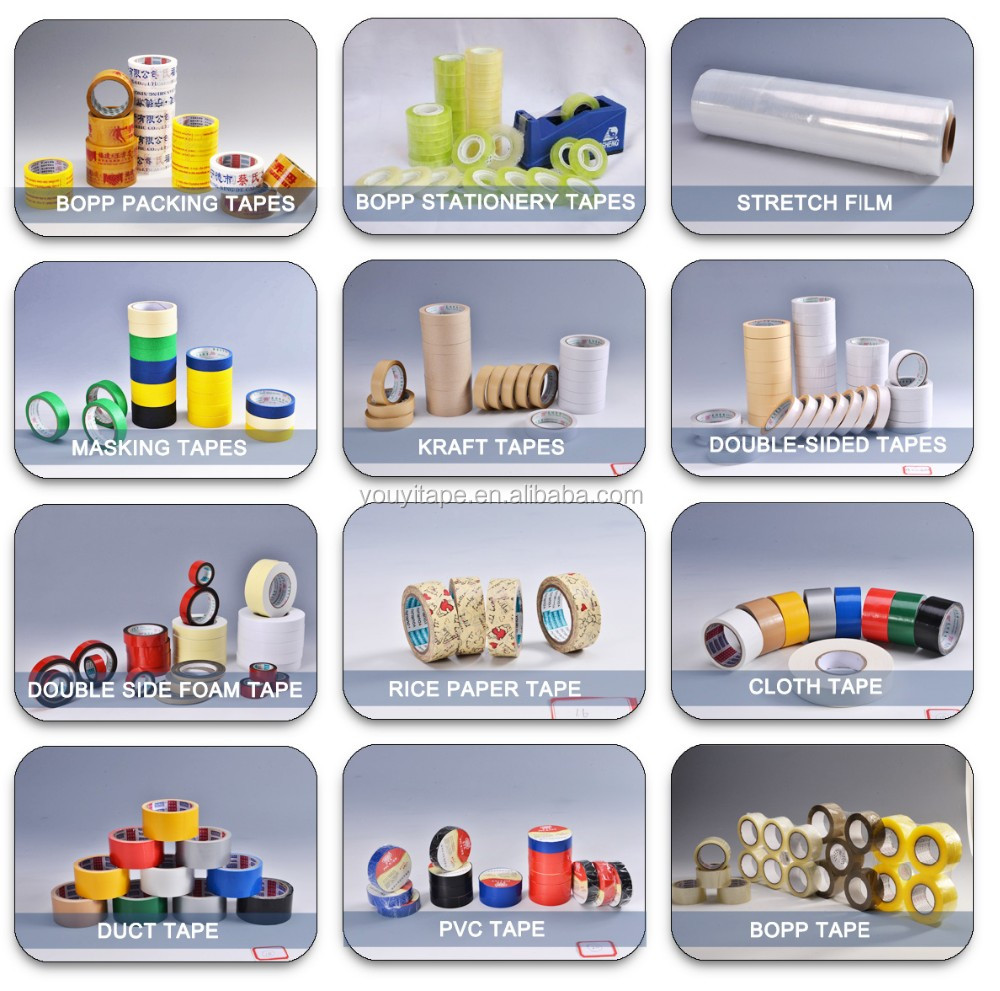Tissue/OPP/PET/EVA Double Sided Adhesive Tape