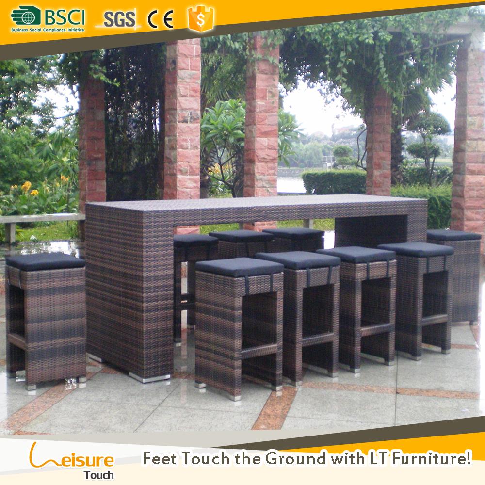 Populaire ontwerp hotel outdoor rieten bar sets voor gebruikt tuin ...