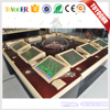 Coin Operated 12 Player Casino Roulette Table Machine Electronic Bingo Roulette Game