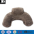 custom downy flocking folding inflatable travel neck pillow