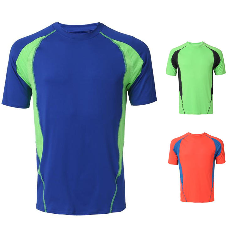 2015 summer new desigin men running t shirt own brand BELLA sports ware men breathable tops tees causal quick fast dry shirt