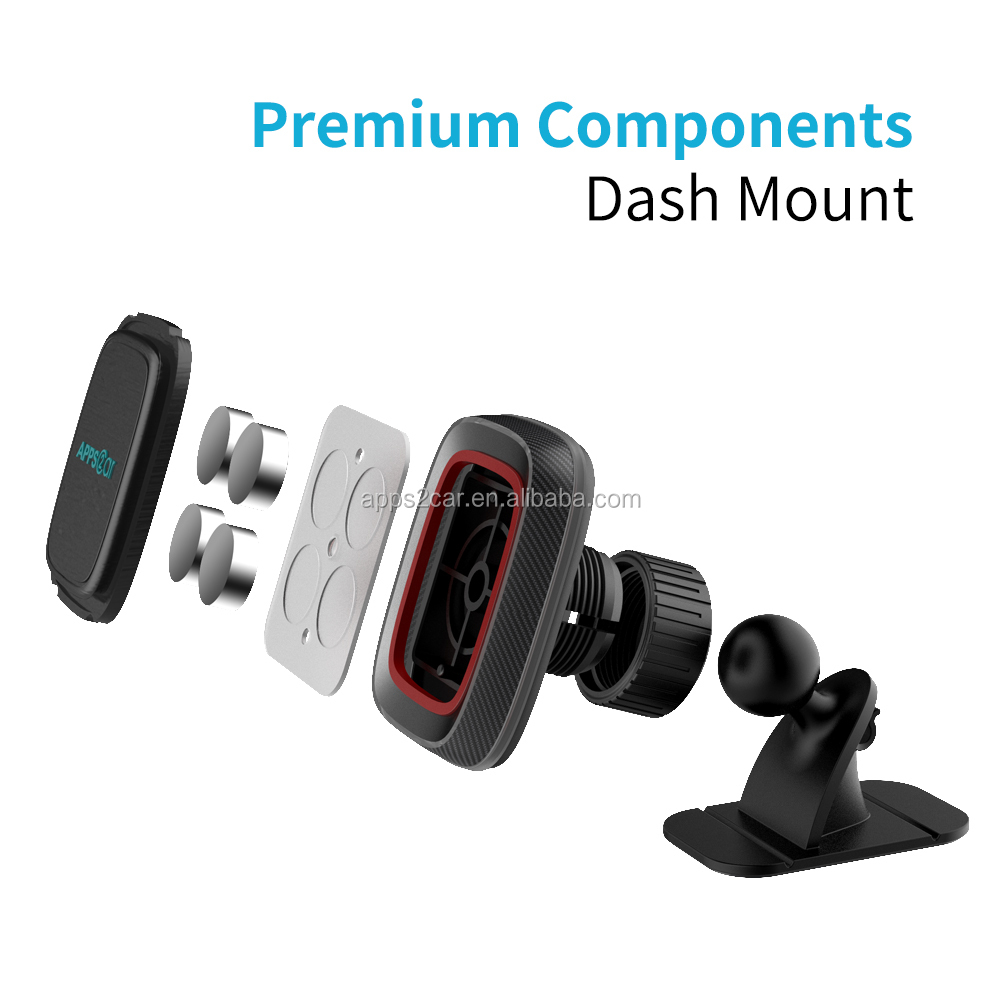 Apps2car Fashion Design uneven surface Magnetic Phone Holder  Adjustable Cell Phone Stand for Car