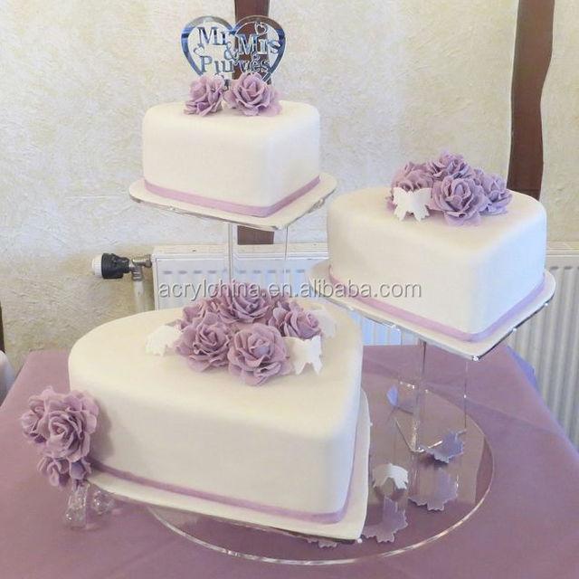 Clear Acrylic Cake Display Stand/Round Acrylic Cupcake Display Shelf