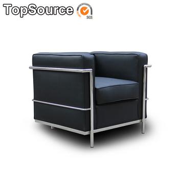 Leren Moderne Bank.Meubelen Designer Le Corbusier 1 Zetel Moderne Echte Lederen Sofa
